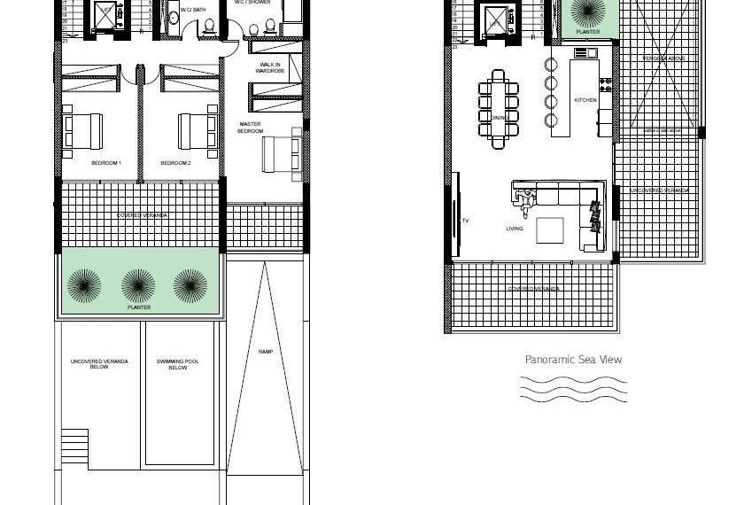 1 & 2 floors