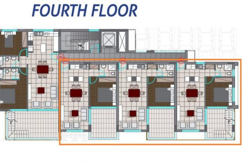 1bds 4th floor