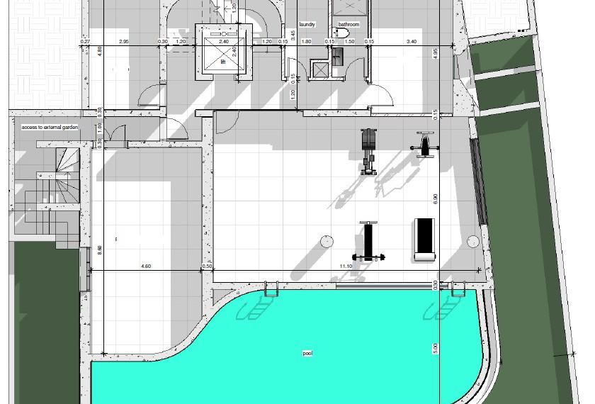 1st Level- Sauna - Gym area-Luxury villa Limassol