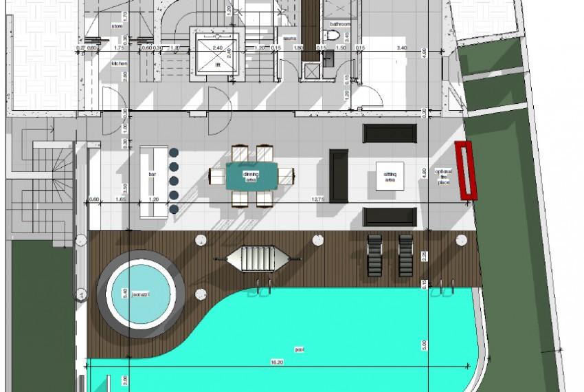 2nd level- swimming pool area-Luxury villa Limassol
