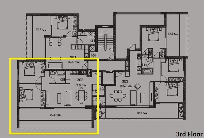 3rd floor plan - Copy