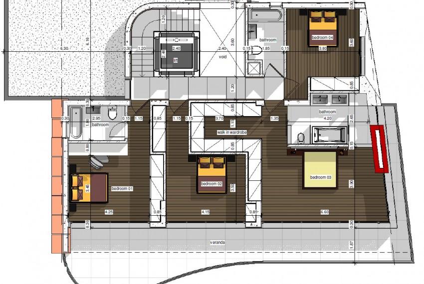 4th level-Bedrooms-Luxury villa Limassol