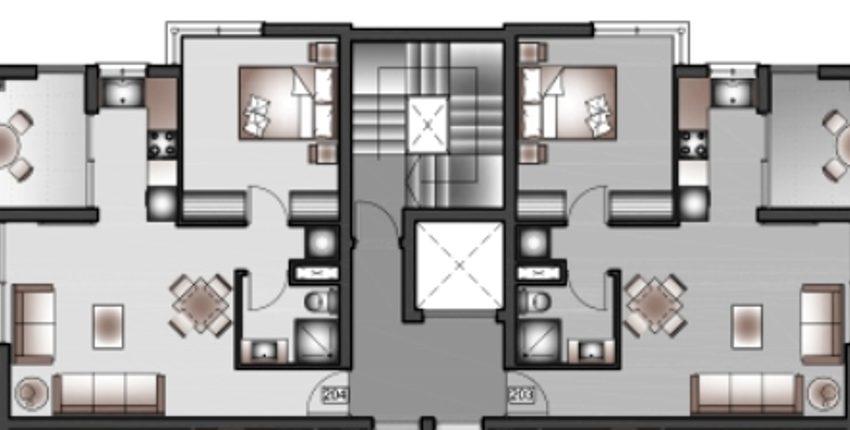 B-FLOOR tyicall floor plans