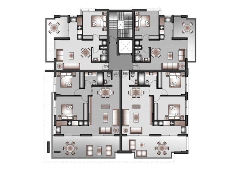 B-FLOOR tyicall floor plans - Copy