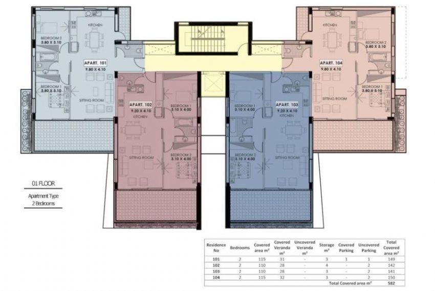 C re 1st floor 2 bds