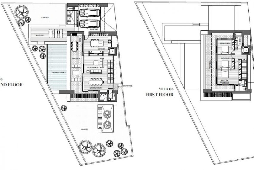 Capture villa 03 floor plans