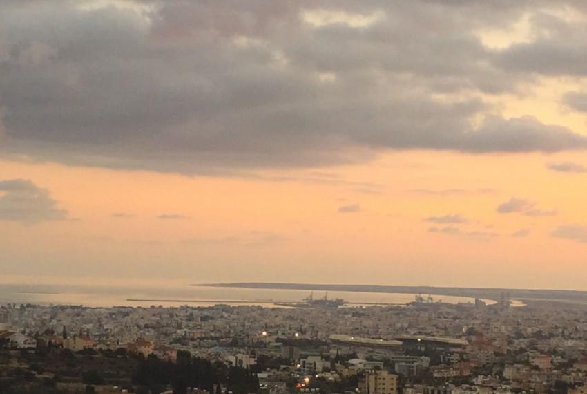 Limassol sunset - center and port view