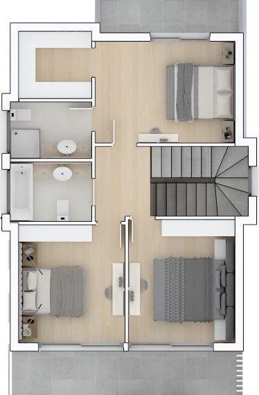 O RESIDENCE HOUSE 1 2 3 4 FIRST FLOOR
