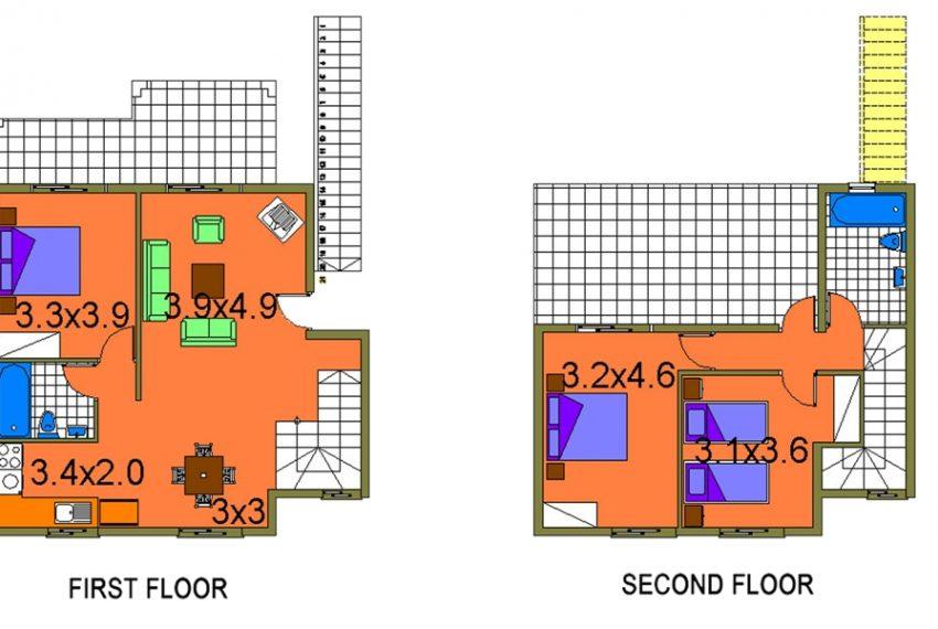 Plan maisonette
