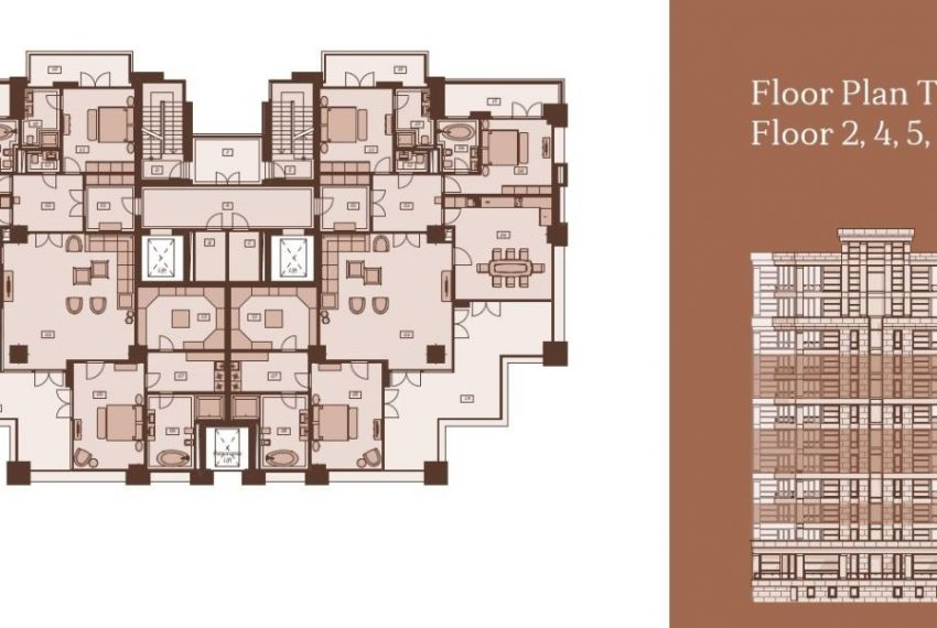 Plan type A Floors 2 4 5 7 8