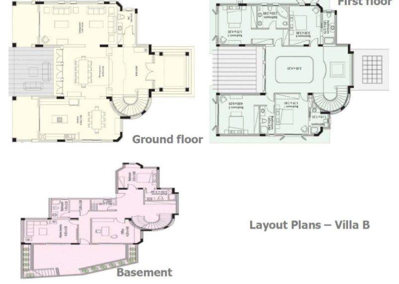 Plans Villa B