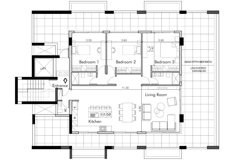 Three Bedroom Apt Residence - Residence 23