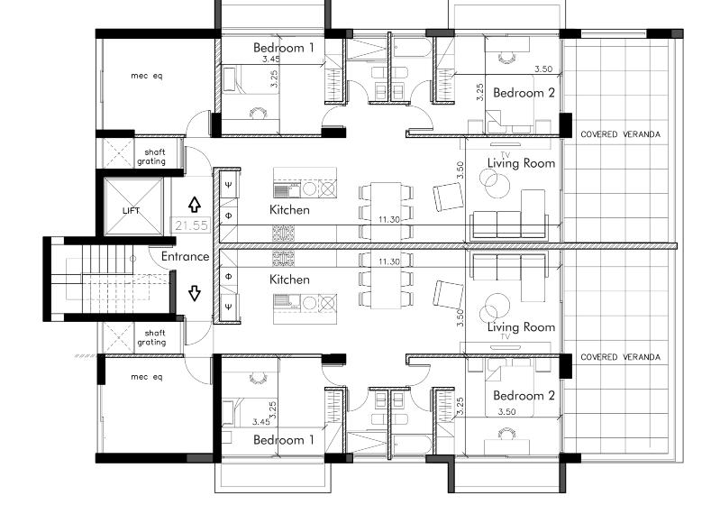 Two bedroom Apt - Residence 23
