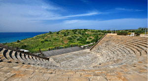 the ancient ruins of Kourion