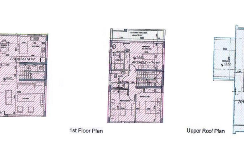 Villa 1,3 floor plan