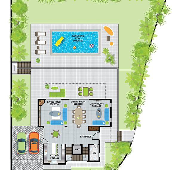 Villa 2 gr fl plan