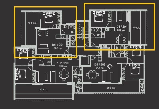 plan 1st floor - 1bd
