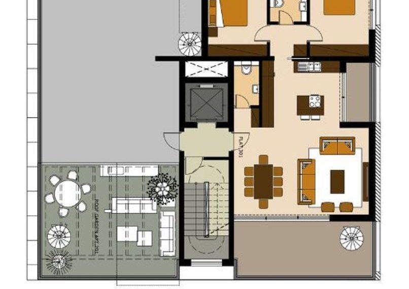plan +roof garden