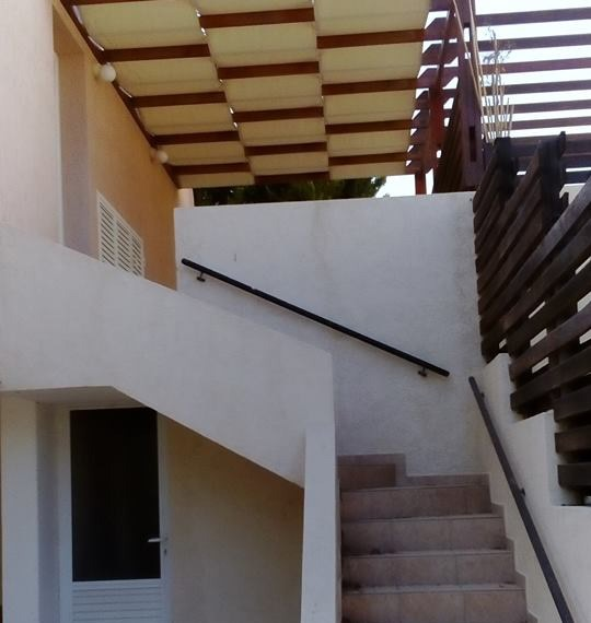 stairs to garden store room