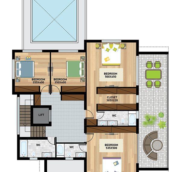 villa 2 first floor plan