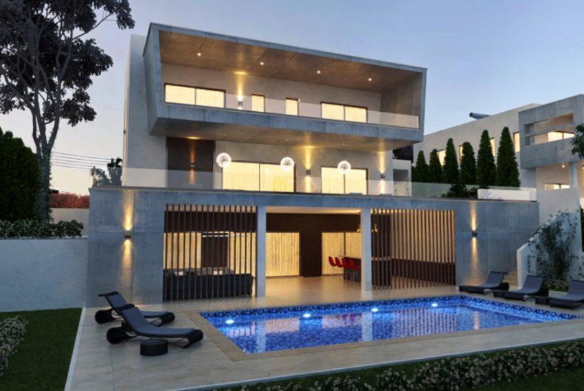 villa 2 pool view