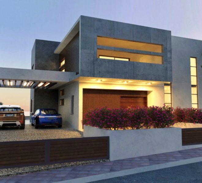 villa 3 exter parking